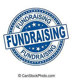 fundraising round grunge stamp on a white background