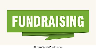 fundraising sign. fundraising paper origami speech bubble. ...