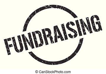 fundraising stamp - fundraising black round stamp