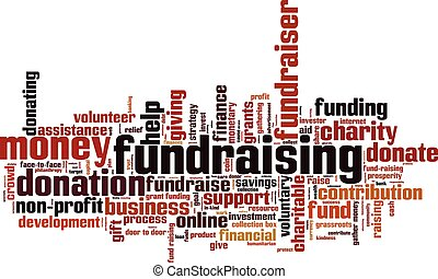 Fundraising.eps - Fundraising word cloud concept. Vector...