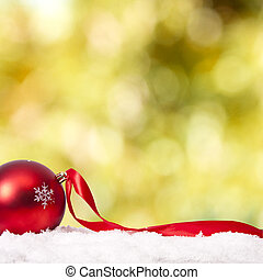 funds with traditional Christmas decoration and Christmas...