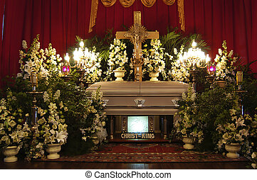 funeral, católico, servicio
