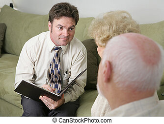 Funeral Director or Counselor - A counselor with a caring...
