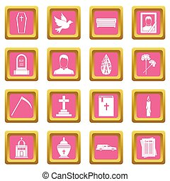 Funeral icons pink