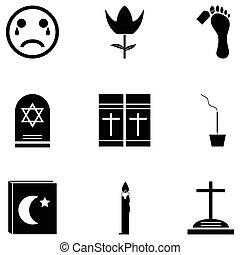 funeral, jogo, ícone