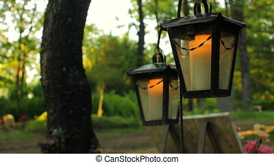 Funeral Lanterns in Graveyard - Couple of lantern lights...