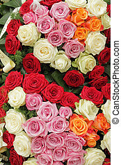 funeral multicolor roses wreath - funeral multicolor roses ...