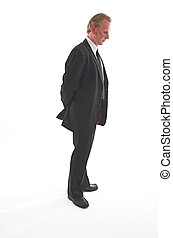 Funeral suit - Man in his thirties wearing a smart black...