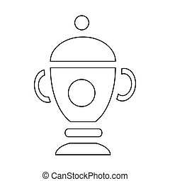 Funeral urn for ashes icon, outline style