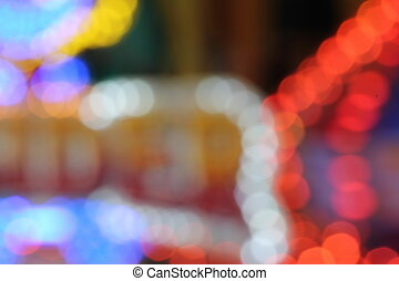 funfair blur lights