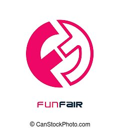 Funfair Cryptocurrency Coin Sign Isolated