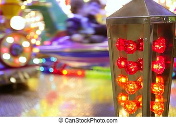 funfair fairground attraction nigh colorful light - funfair...