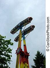 Funfair - funfair devil's merry-go-round