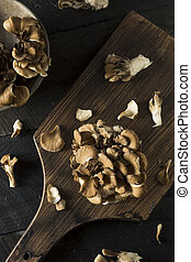 funghi, crudo, organico,  maitake
