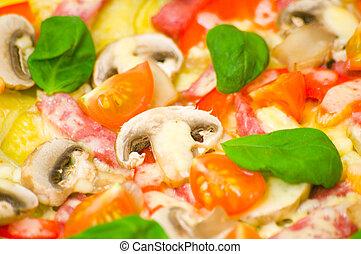 funghi, pizza