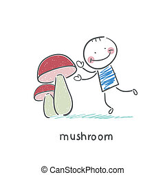 funghi, uomo