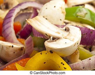 fungo, e, verdura