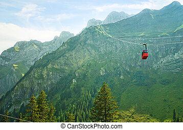 funicular, alpes suizos