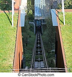 funicular, barandas