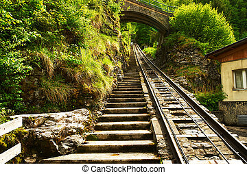 funicular, carril, reichenbach