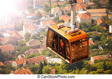 funicular, coche, cable, dubrovnik