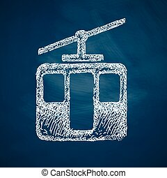 funicular, icono