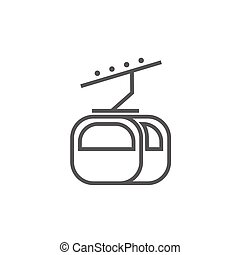 Funicular line icon.