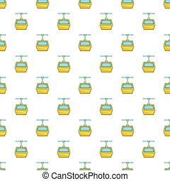 Funicular pattern, cartoon style