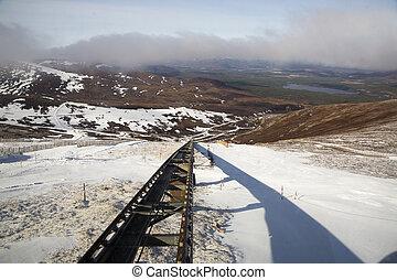 funicular, pista, ferrocarril