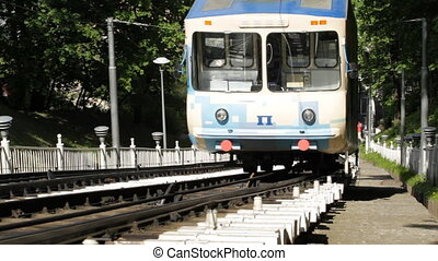Funicular railway in Kiev,Ukraine