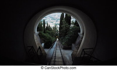 Funicular railway in Tbilisi - Lifting ancient city of...