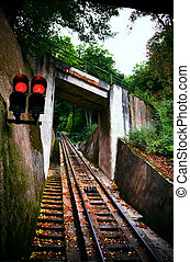 Funicular railway. Karlovy Vary