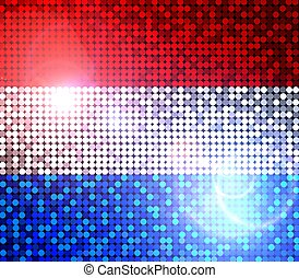 funkeln, fahne, von, niederlande