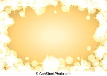 funkeln, hintergrund, gold