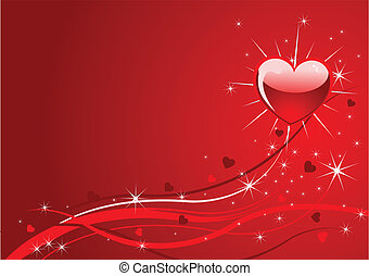 funkeln, rotes , valentine, hintergrund