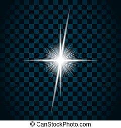 funkeln, stern, licht