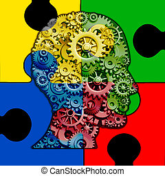 funktion, gehirn, autismus