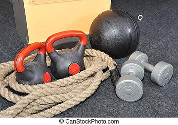 funktionell, -, fitness, och, crossfit