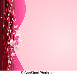 funky abstract background - illustration of funky pink...