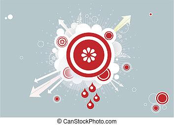 funky arrow background