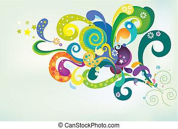 funky background - funky pattern design background.