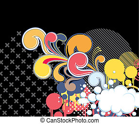 funky background with cloud
