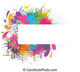 Funky background with copy-space - Funky background with...