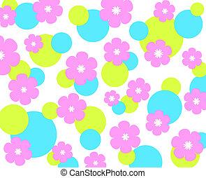 funky, bloemen