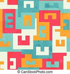 funky bright maze seamless pattern