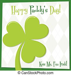 Funky bright St. Patrick's Day card in vector format.