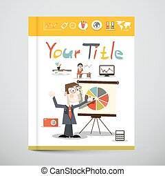 Funky Brochure - Business Book Vector Cover Design with...