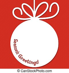 Funky Christmas bauble tag in vector format.