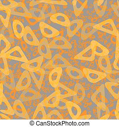 Circle Abstract Bio Chain Pattern