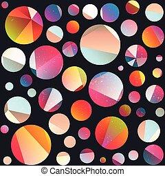 Funky circle seamless pattern